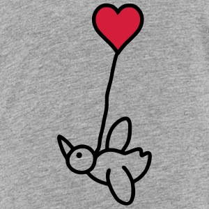 Vogel mit Herzballon - V2 T-Shirts - Teenager Premium T-Shirt