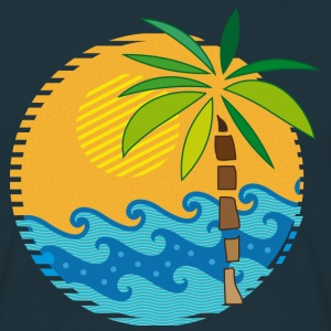 Island, sea and Palm Tree T-Shirts - Men's T-Shirt