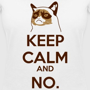 Keep calm no grumpy cat gatto - Maglietta da donna scollo a V