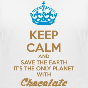 Keep calm chocolate cioccolata earth terra love - Maglietta da donna scollo a V