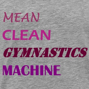 Mean Clean Gymnastics Machine - Purple T-Shirts - Men's Premium T-Shirt