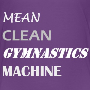 Mean Clean Gymnastics Machine - White Shirts - Teenage Premium T-Shirt