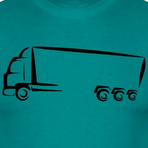 Stylized truck truck T-Shirts - Men's T-Shirt