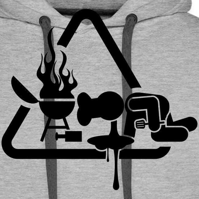 BBQ Mannen Hoodie Kots