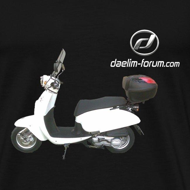 Daelim Besbi + Vogel Fläche auf TShirt (mit Logo und Forum-URL) und Vogel Fläche auf Rücken