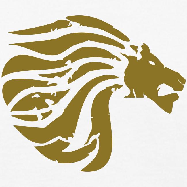 """Organic Shirt """"Golden True Lion"""""""