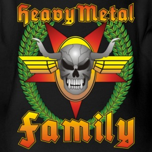 Heavy Metal Family Kids No.5 - Baby Bio-Kurzarm-Body
