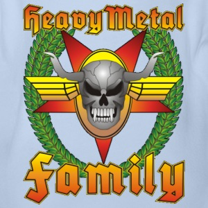 Heavy Metal Family Kids No.3 - Baby Bio-Kurzarm-Body