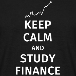 keep calm and study finance T-skjorter - T-skjorte for menn
