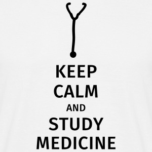 keep calm and study medicine Camisetas - Camiseta hombre