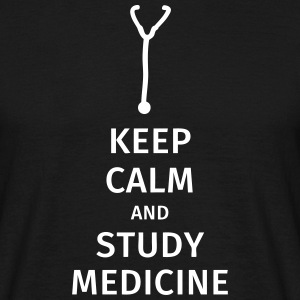 keep calm and study medicine T-skjorter - T-skjorte for menn