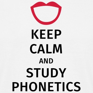 keep calm and study phonetics T-skjorter - T-skjorte for menn