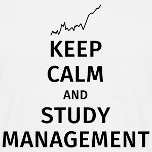 keep calm and study management T-shirts - Herre-T-shirt