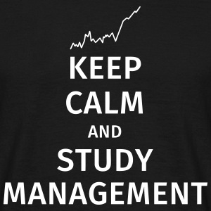 keep calm and study management T-skjorter - T-skjorte for menn