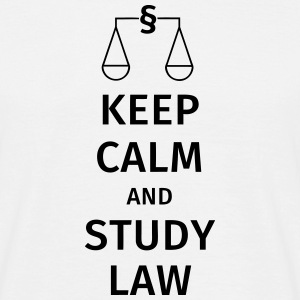 keep calm and study law T-shirts - Herre-T-shirt