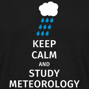 keep calm and study meteorology Koszulki - Koszulka męska