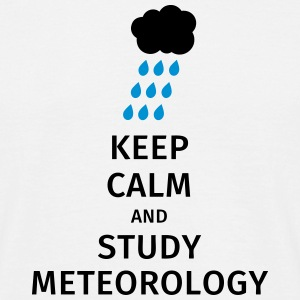keep calm and study meteorology T-skjorter - T-skjorte for menn