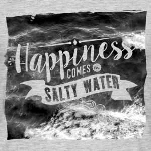 Happiness comes in salty water T-Shirts - Männer T-Shirt