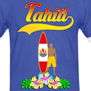 tahiti surfing team 03 Tee shirts - T-shirt contraste Homme