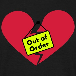 Out of Order Heart T-Shirts - Männer T-Shirt