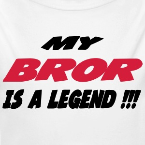 My bror is a legend 111 Babybody - Økologisk langermet baby-body
