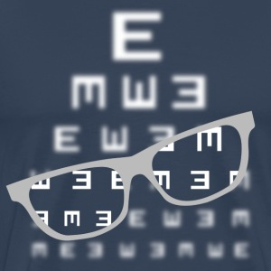 Vision screening with glasses white T-Shirts - Men's Premium T-Shirt