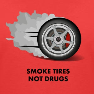 Smoke tires not drugs T-Shirts - Women's V-Neck T-Shirt