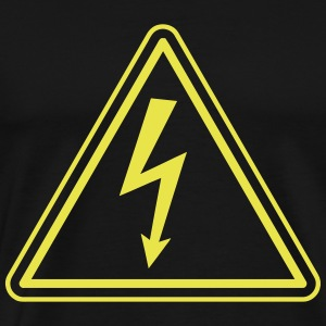 ELECTRICIAN UNDER HIGH VOLTAGE Camisetas - Camiseta premium hombre