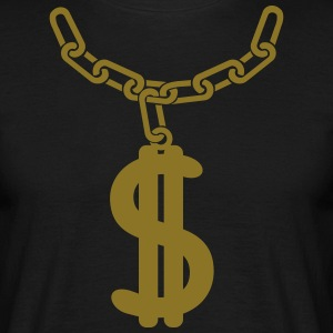 Dollar ketting T-shirts - Mannen T-shirt
