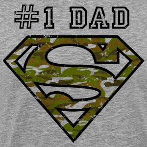 Superman Super Dad Army - Herre premium T-shirt
