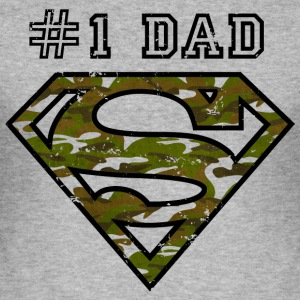 Superman Super Dad Army - Männer Slim Fit T-Shirt