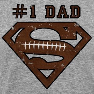 Superman Super Dad Football Männer T-Shirt - T-shirt Premium Homme