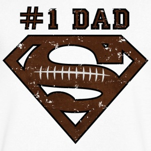 Superman Super Dad Football - Herre T-shirt med V-udskæring