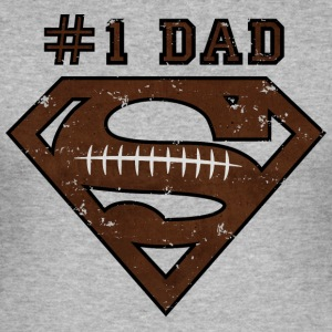 Superman Super Dad Football - Slim Fit T-shirt herr