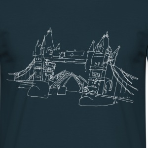 London Tower Bridge w T-Shirts - Männer T-Shirt
