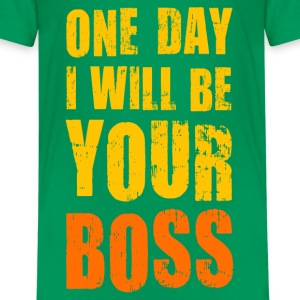 Teenager T-Shirt One day I will be Your boss! Chef - Teenager Premium T-Shirt