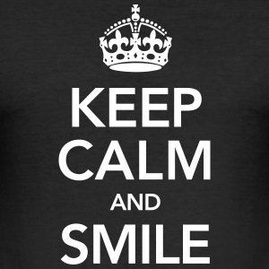 Keep Calm And Smile T-shirts - Herre Slim Fit T-Shirt