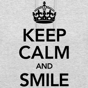 Keep Calm And Smile Bluzy - Bluza z kapturem typu unisex