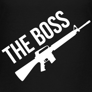The Boss / Armée / Militaire / Arme / Guerre T-shirts - Teenager premium T-shirt