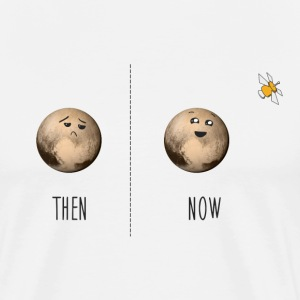 Pluto now and then T-Shirts - Men's Premium T-Shirt