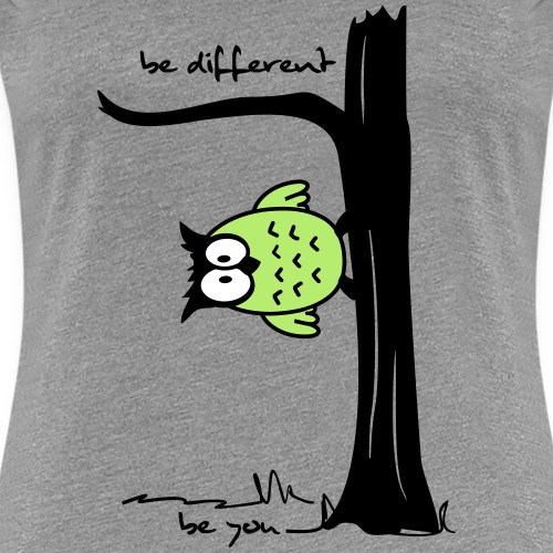 """Eule auf Baum """"be different, be you"""""""