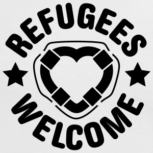 refugees welcome herz T-Shirts - Frauen Kontrast-T-Shirt