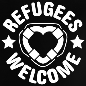 refugees welcome herz T-Shirts - Baby T-Shirt