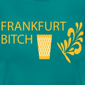 FRANKFURT BITCH - Geripptes - Frauen T-Shirt