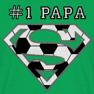 Superman Super Papa Football - T-shirt Homme