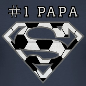 Superman Super Papa Football - Tee shirt près du corps Homme