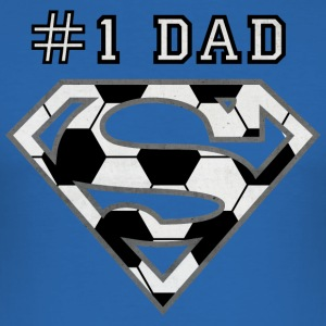 Superman Super Dad Soccer - Herre Slim Fit T-Shirt