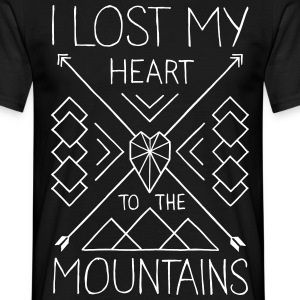 Lost my heart to the mountains - Männer T-Shirt