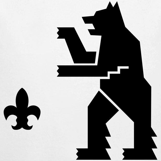 HeMeläiseksi syntynyt-body, mustalla logolla