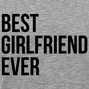 BEST GIRLFRIEND EVER T-shirts - Herre premium T-shirt